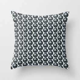 Black pearls background Throw Pillow