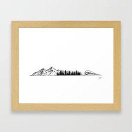 Three elements Framed Art Print