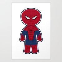 Chibi Spider-man Art Print