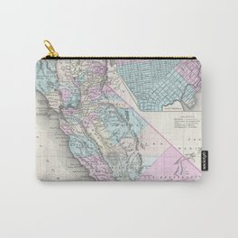 Vintage Map of California (1855) Carry-All Pouch