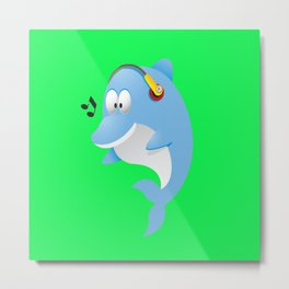 Cute dolphin Metal Print
