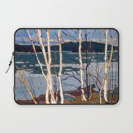 Tom Thomson - Spring in Algonquin Park - Canada, Canadian Oil Painting - Group of Seven Laptop Sleeve