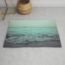 Crash into Me - Aqua Vintage Beach Edition Rug