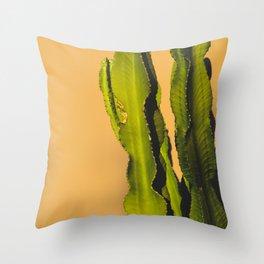 Vibrant Cactus Throw Pillow