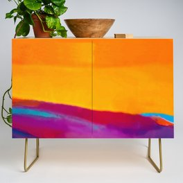 Arizona Sunset in a Pop Art abstract style Credenza