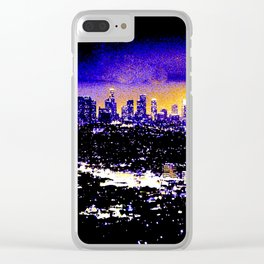 LA Skyline at Night Clear iPhone Case