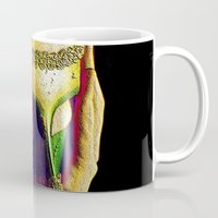 anonymous Mugs featuring Anonymous  by Dream Realm Photography and Art