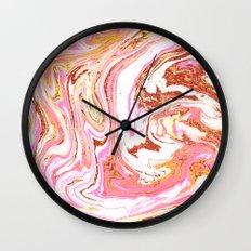 Marble + Rose Gold Dust #society6 #decor #buyart Wall Clock