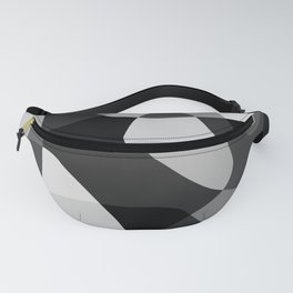 Mid Century Modern Abstract Rock Layers Charcoal Fanny Pack