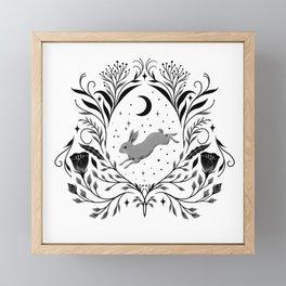 Happy Easter -Black and White Framed Mini Art Print