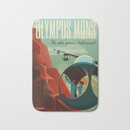 SpaceX Mars tourism poster / Olympus Mons Bath Mat