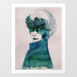 Blue-Green Skin Art Print