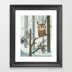 Day Owl Framed Art Print