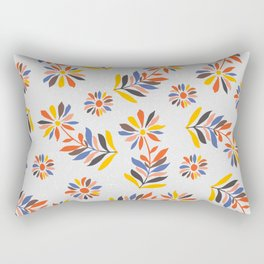 Folk Flowers II Rectangular Pillow