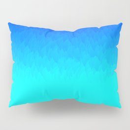 Electric Blue Ombre flames / Light Blue to Dark Blue Pillow Sham