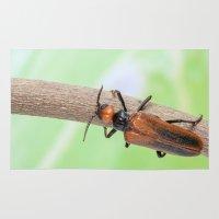 beetle Area & Throw Rugs featuring Beetle by Marcel Derweduwen