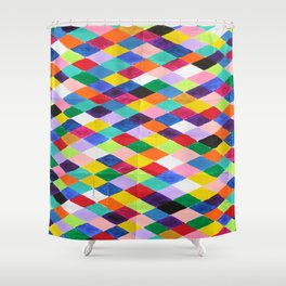 You.Me.Us Dos Background Shower Curtain