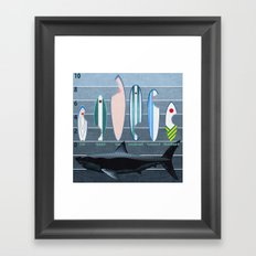 Shark Week - A balanced diet is essential  Framed Art Print