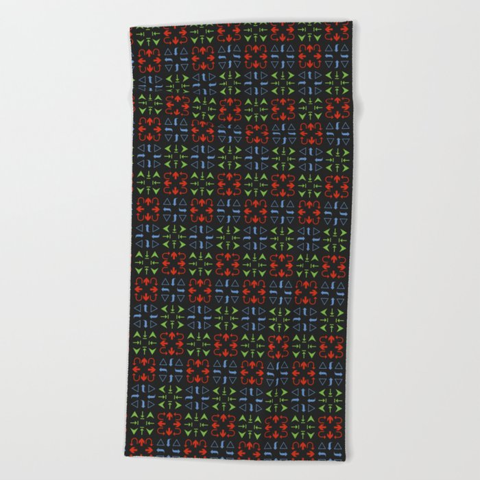 Arrows Pattern Color Beach Towel