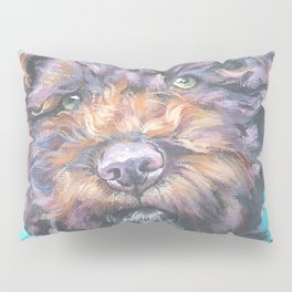 Lagotto Romagnolo dog art portrait from an original painting by L.A.Shepard Pillow Sham