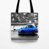 subaru Tote Bags featuring Subaru Racer by VHS Photography