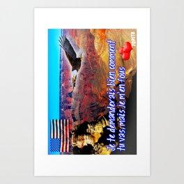 Carte Postale - Je me fous de comment tu vas Art Print