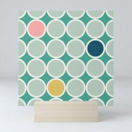 Scalloped Circles in Seafoam Mini Art Print