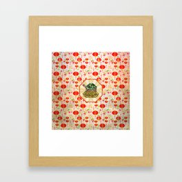 Watercolor Tortoise / Turtle Feng Shui on Bagua Framed Art Print