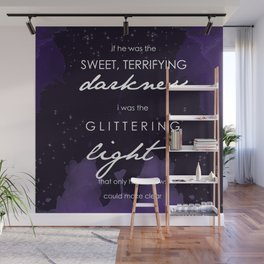 Sweet Darkness and Glittering Light Wall Mural