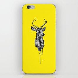 Deer Head III (bright yellow) iPhone Skin