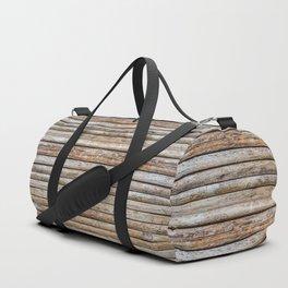 Wood Effects Raw Wood Log Cabin Lodge Rustic Duffle Bag