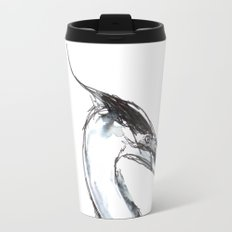 Heron, Watercolor Travel Mug