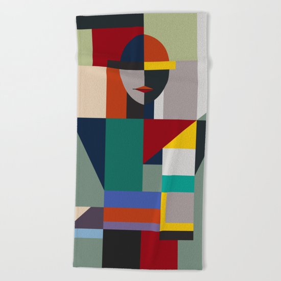 NAMELESS WOMAN Beach Towel