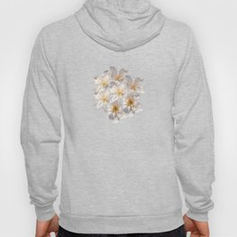 White Cherry Blossoms Pattern Hoody