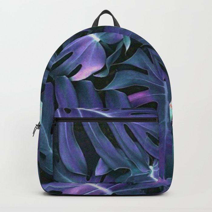 Monstera Blues Backpack