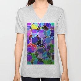 Geometric Genetics - Metallic, abstract, geometric pattern Unisex V-Neck