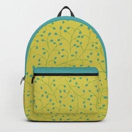 Green Sheen Jaded Twigs Pattern Backpack