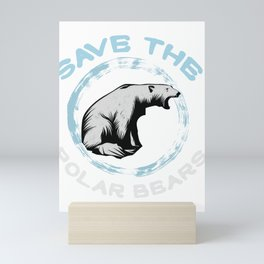 Polar Bears Marine Mammals Boar Sea Animal  Gift Mini Art Print
