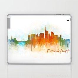 Frankfurt am Main, City Cityscape Skyline watercolor art v3 Laptop & iPad Skin