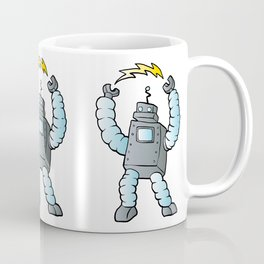 cartoon blue eletric robot Coffee Mug