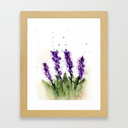 Watercolored Lavender Framed Art Print