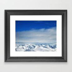 swiss alps Framed Art Print