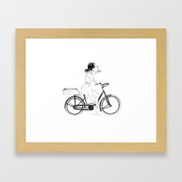 Anita | Fashion illustration Framed Art Print