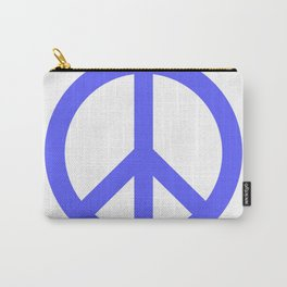Peace (Azure & White) Carry-All Pouch