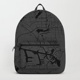 Amsterdam Gray on Black Street Map Backpack