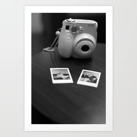 nostalgic Polaroids  Art Print