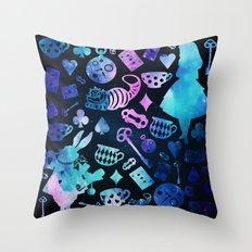 Alice in Wonderland - Galaxy Throw Pillow
