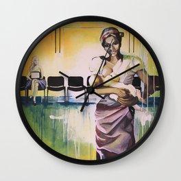 Les demoiselles avec un enfant Wall Clock