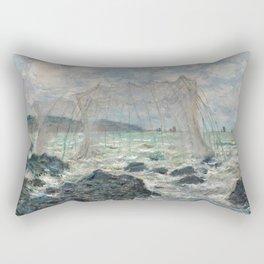 Claude Monet - Fishing nets at Pourville, 1882 Rectangular Pillow
