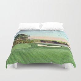 Pebble Beach Golf Course 5th Hole Duvet Cover